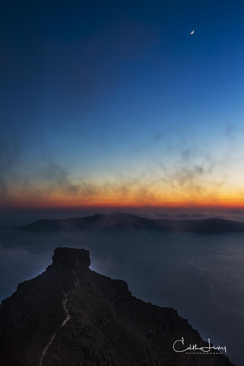Imerovigli, Santorini, Greece, sunset, colourful, sky, magic, photo