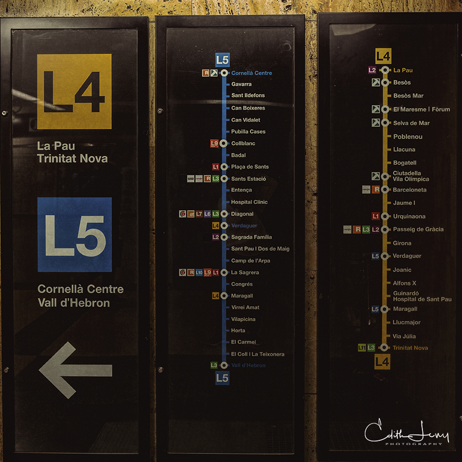 Barcelona, Spain, Subway, tableau, story, sign, photo