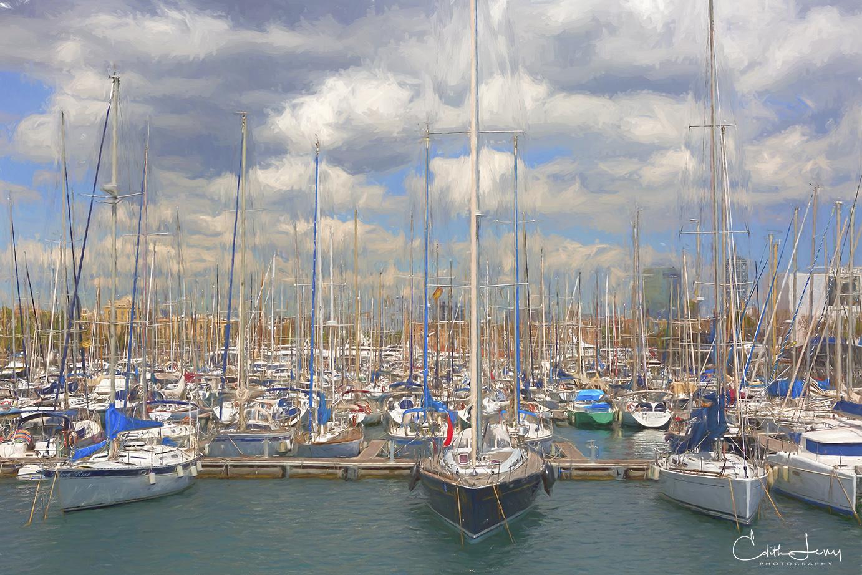 Barcelona, Spain, marina, boat, photo