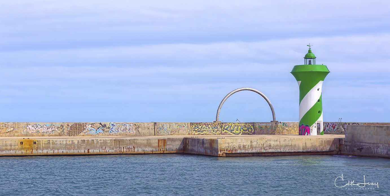 Barcelona, Spain, marian, pier, lighthouse, photo
