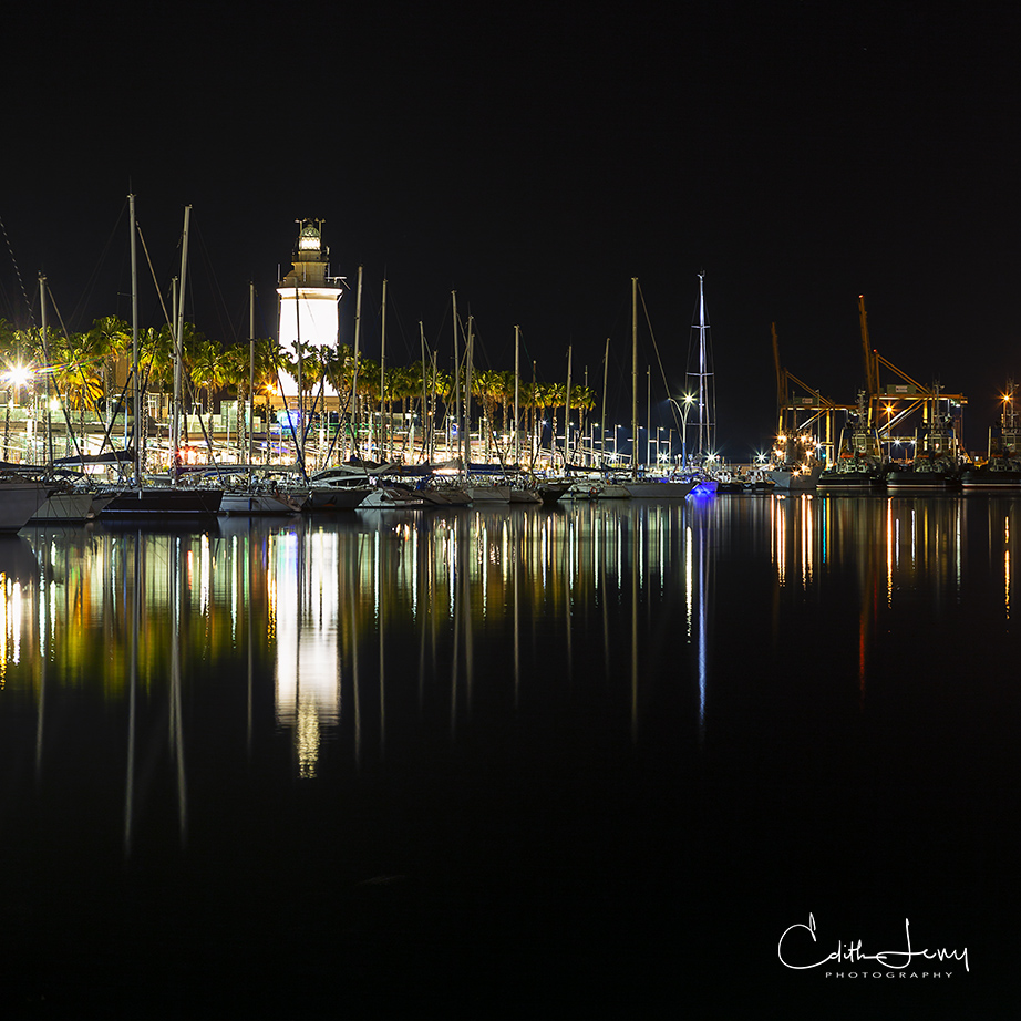 Spain, Malaga, Costa Del Sol, marina, lighthouse, photo