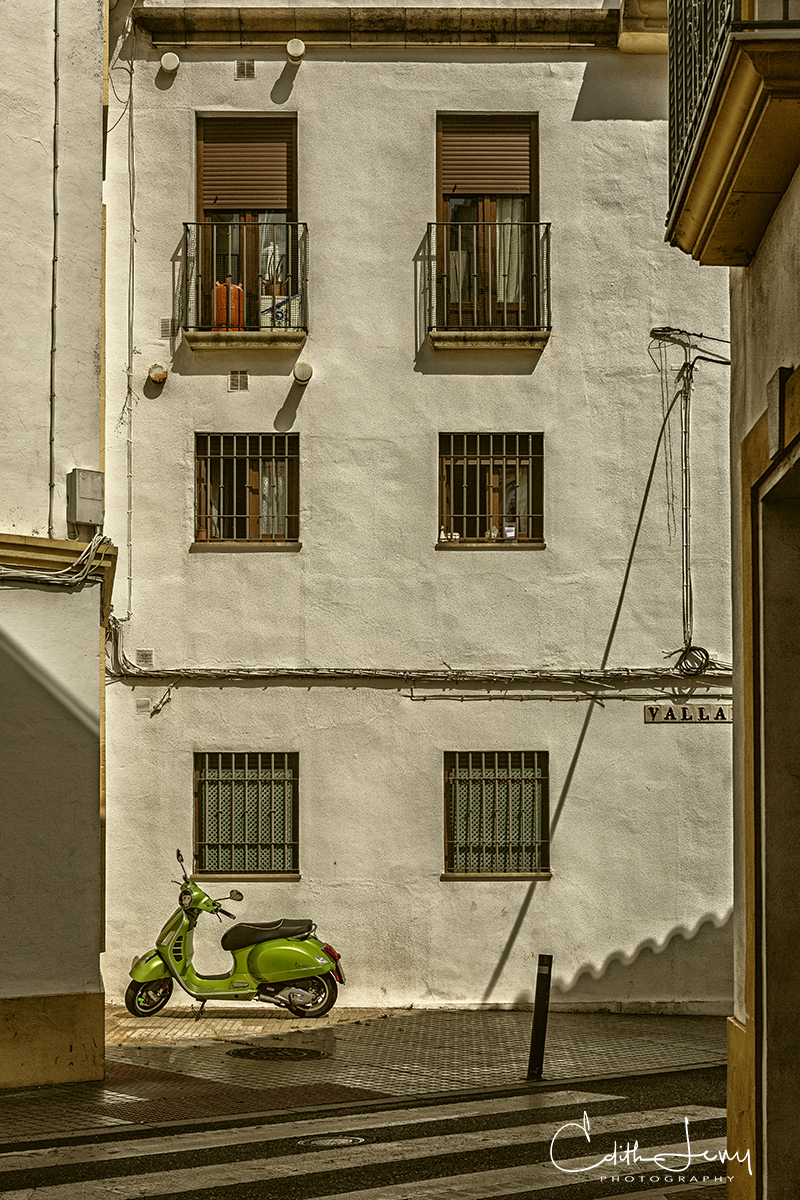 Cordoba, Spain, green, vespa, photo