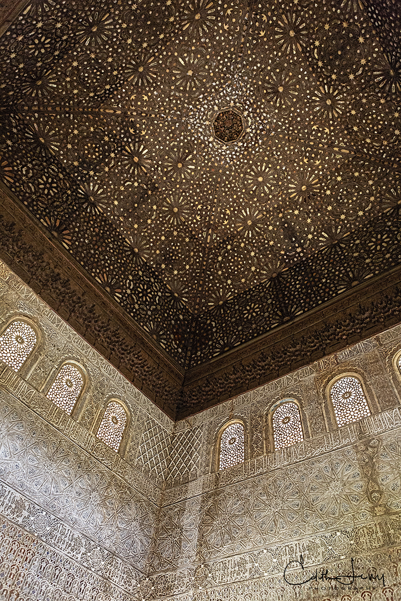 Alhambra, Granada, Spain, palace, fortress, architecture, detail, photo
