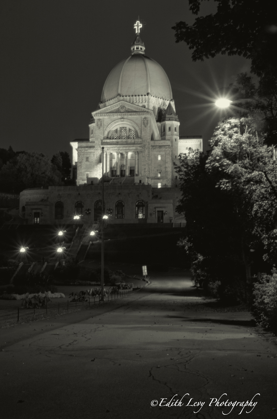 St. Joseph's Oratory in Montreal. The oratory's dome is the third largest in the world after the Basilica of Our Lady of Peace...