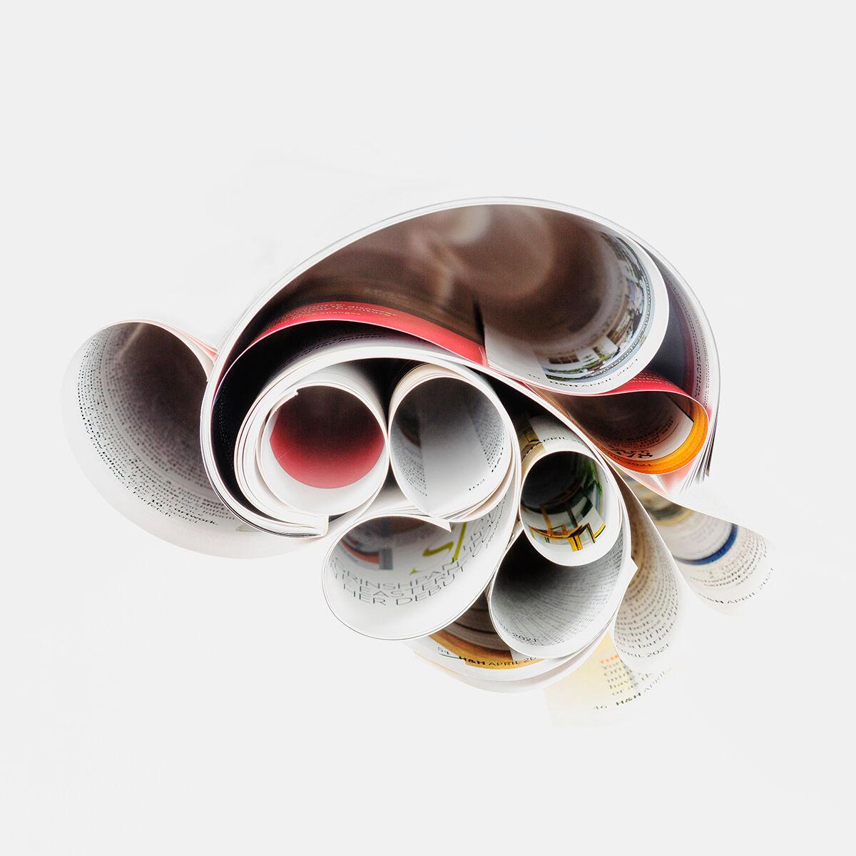orimeno, book art, fine art photography, magazine, Canadian House & Home, folded art, paper art,