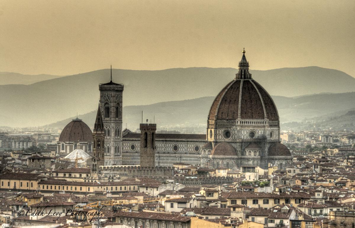 Florence, Italy, Duomo, dusk, church