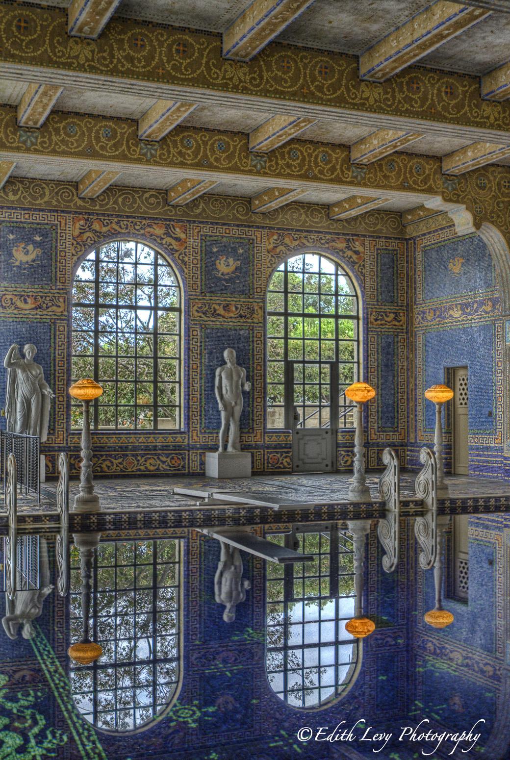 San Simeon, California, Hearst Castle, Roman Pool, blue, tile