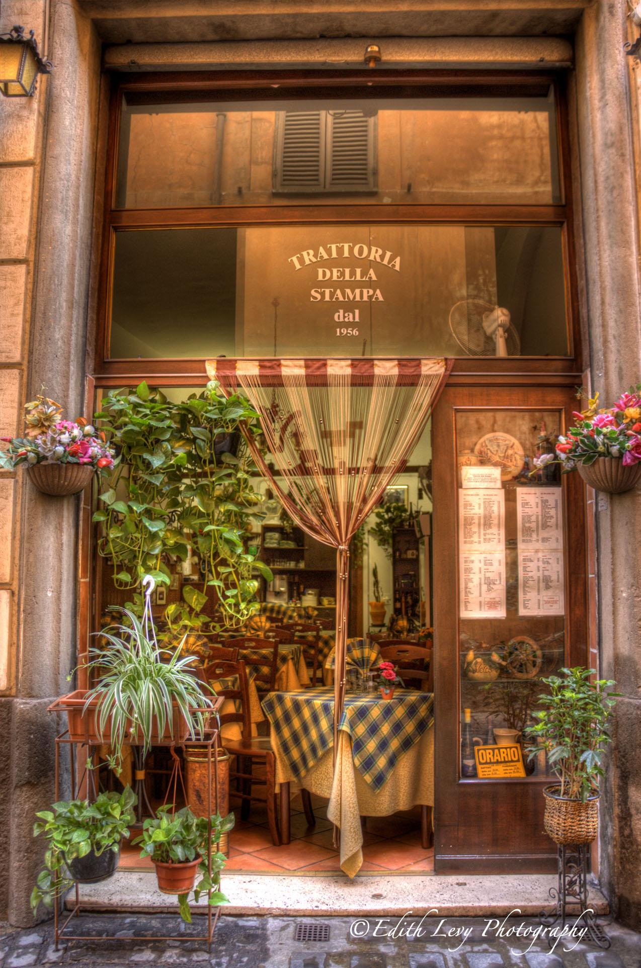 Rome, Italy, restaurant, trattoria