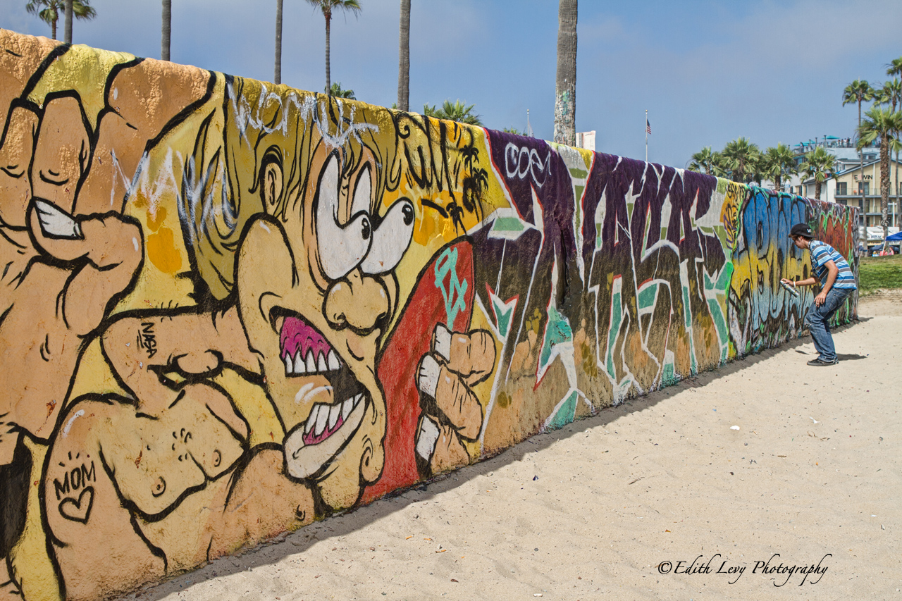 Venice Beach, California, Street artist, Los Angeles, street art, graffiti