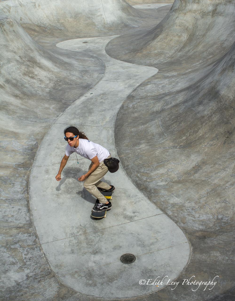 Venice Beach, California, skateboard, skateboarder, skate park