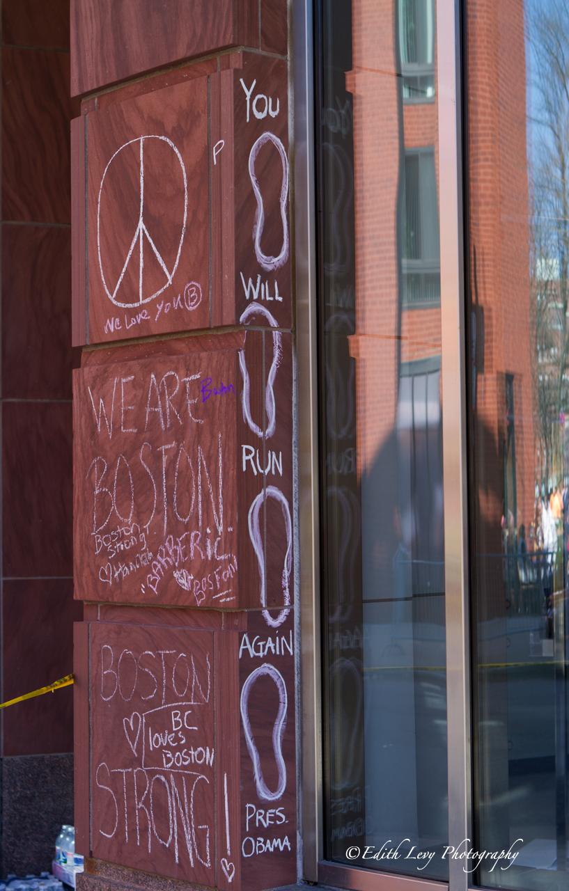 Boston, Massachusetts, street photography, Boston strong, marathon, graffiti