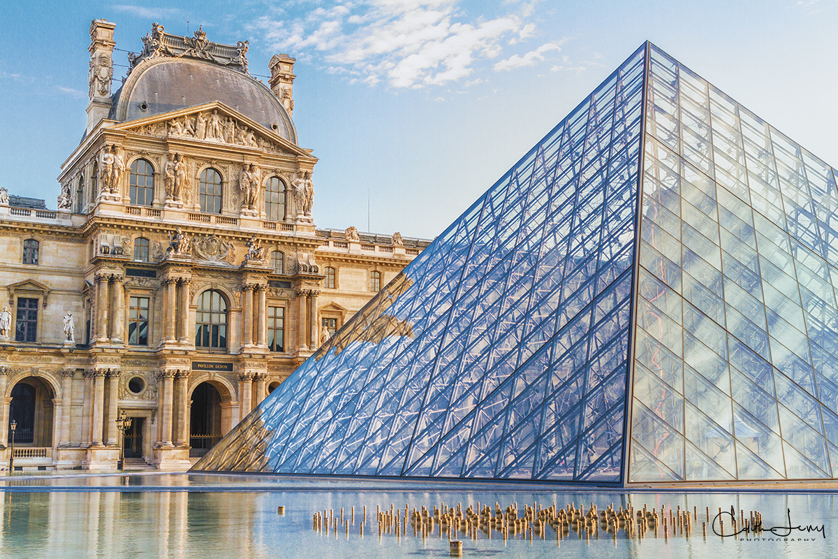 Limited Edition of 50 The Louvre Museum was built in 1793. The pyramid, designed by architect I.M. Pei was built in 1989. Built...