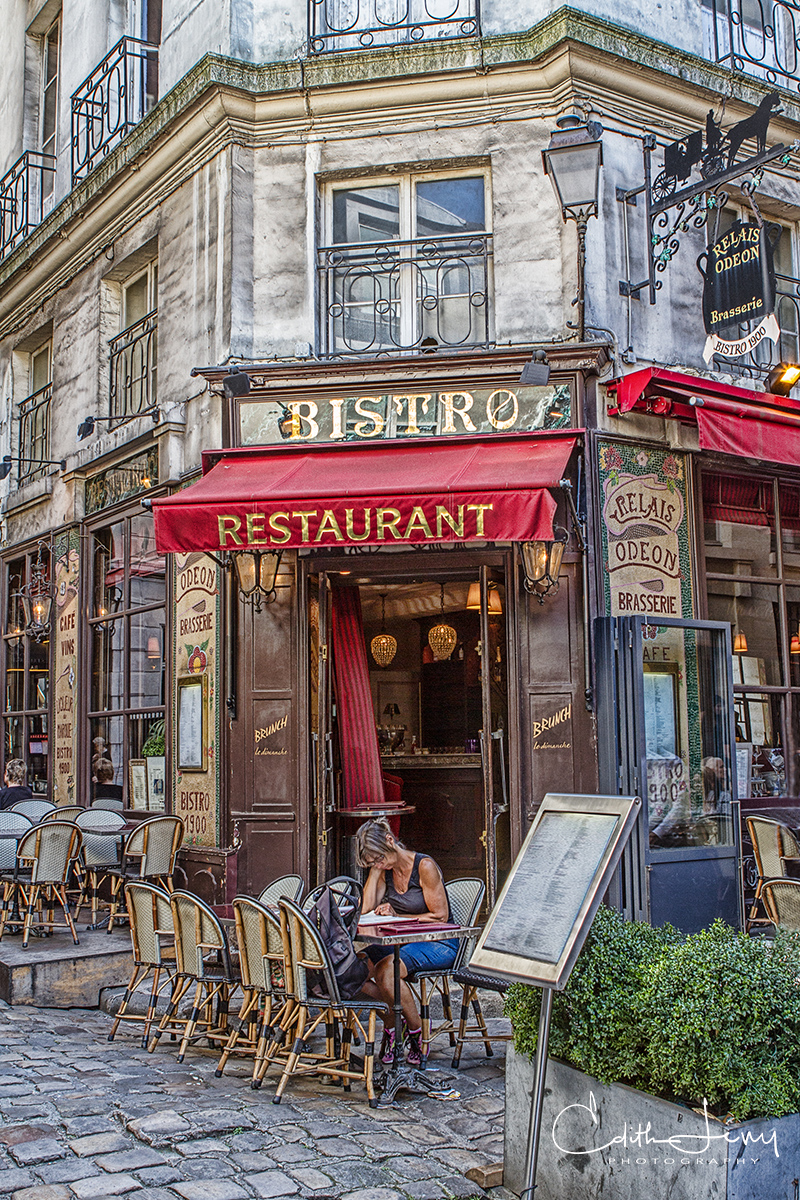 Limited Edition of 50 The Parisian bistro is as iconic to Paris' landscape as the Eiffel Tower. The outdoor seating with the...