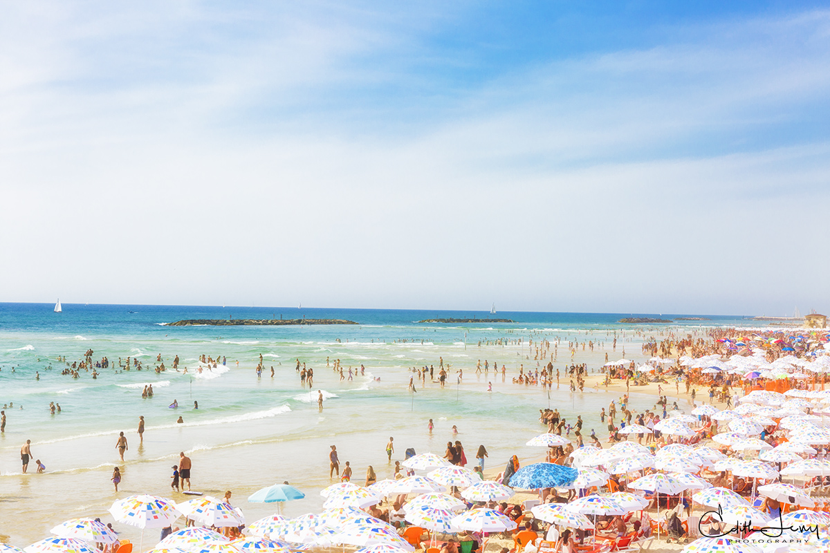 Tel Aviv, beach, tourists, Israel, photo